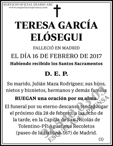 Teresa García Elósegui